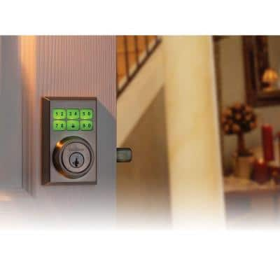 SmartCode 909 Contemporary Satin Nickel Single Cylinder Electronic Deadbolt Featuring SmartKey Security