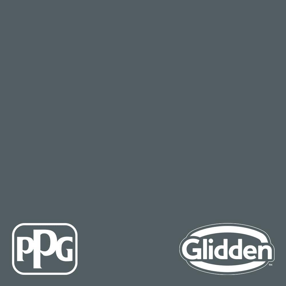 Glidden Essentials 1 Gal Ppg1037 6 Mysterious Satin Exterior Paint Ppg1037 6ex 1sa The Home Depot