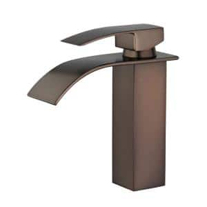 Santiago Single Hole Single-Handle Bathroom Faucet in Oil Rubbed Bronze