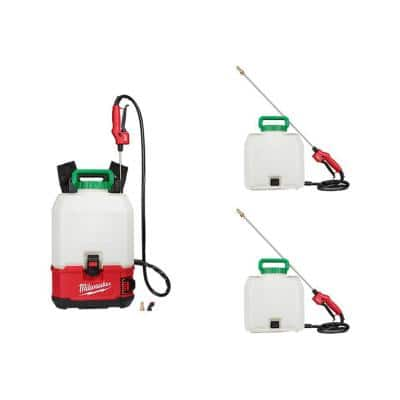 M18 18-Volt 4 Gal. Lithium-Ion Cordless Switch Tank Backpack Pesticide Sprayer (Tool-Only) and 3 Tank Assemblies