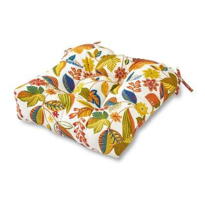 Esprit Floral Square Tufted Outdoor Seat Cushion