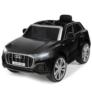 12-Volt Licensed AudiQ8 Kids Ride On Car with 2.4G Remote Control MP3 LED Lights Black