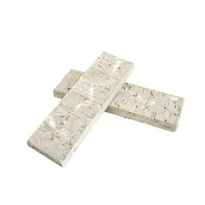 7.625 in. x 2.25 in. x 0.625 in. Bristol White Thin Brick Singles (Box of 42)