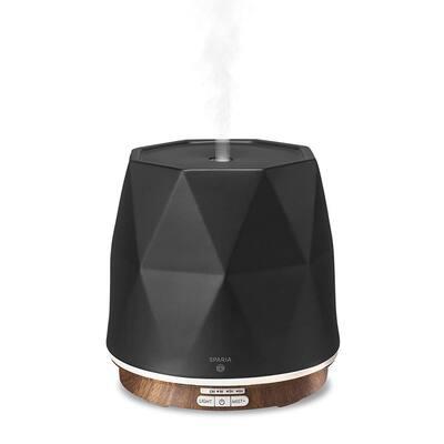 Matte Black 300 ml Ceramic Ultrasonic Aromatherapy Essential Oil Diffuser