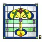 Horta Tiffany-Style Stained Glass Window Panel