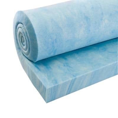 3 inch thick High Density Blue Swirl or Copper Swirl Memory Foam
