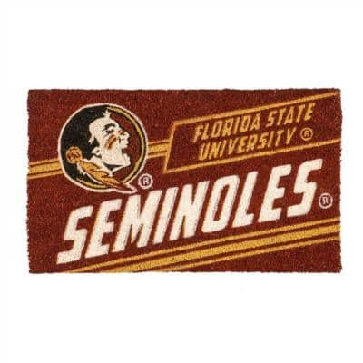 16 in. x 28 in. Florida State University Coir Punch Mat