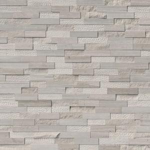 White Oak Multi 6 in. x 6 in. x 6 in. Honed Marble Stone Look Wall Tile (2.5 sq. ft. / Case)