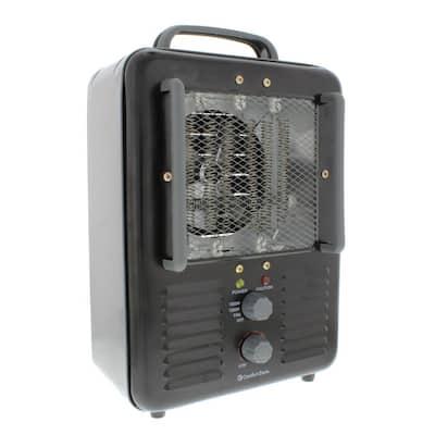 1,500-Watt Milk house Style Fan Electric Portable Heater - Black