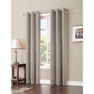 Stone Woven Thermal Blackout Curtain - 40 in. W x 84 in. L