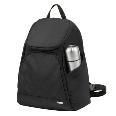16 in. Anti-Theft Black Backpack
