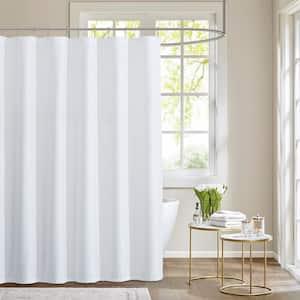 Moderna 70'' x 72'' in. Shower Curtain in White