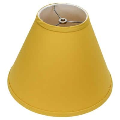 Fenchel Shades 12 in. Width x 8.25 in. Height Curry/Nickel Finish Empire Lamp Shade