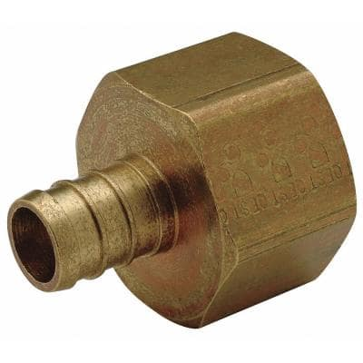 PEX Brass Female Pipe Thread Adapter 1/2 in. Barb x 1/2 in. FPT, Lead Free (50-pack)