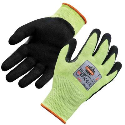 ProFlex Medium Lime Hi-Vis Nitrile-Coated Level 4 Cut Gloves
