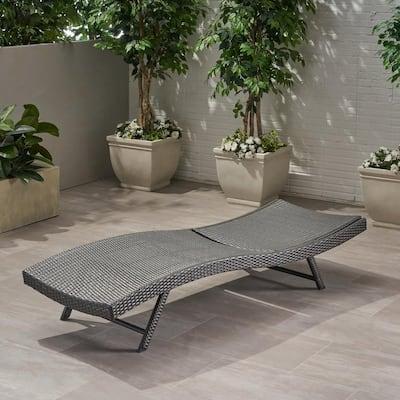 Jordan Grey Wicker Outdoor Chaise Lounge
