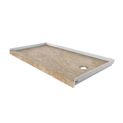 32 in. x 60 in. Single Threshold Shower Base with Right Hand Drain in Alaskan Ivory