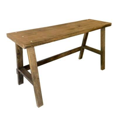 Woodland Pine 18 in. x 58 in. Rectangle Dark Walnut Pine Wood Writing Desk