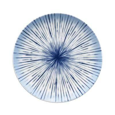 Hanabi Blue/White Porcelain Coupe Salad Plate 8-1/4 in.