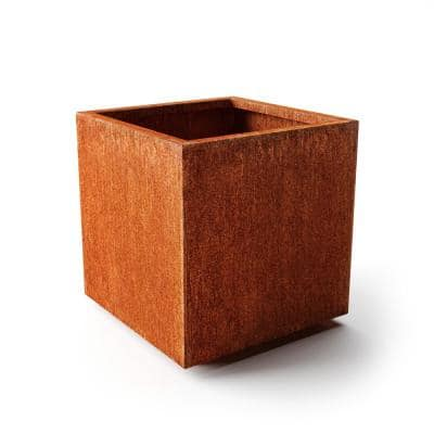 Rust Corten Cube Large Steel Metal Square Planter