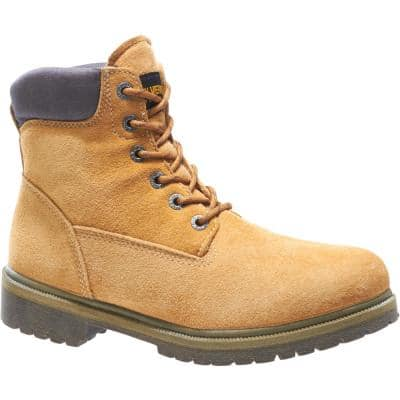 Men's Gold Size 8.5(M) Gold Waterproof 6 in. Work Boots - Soft Toe