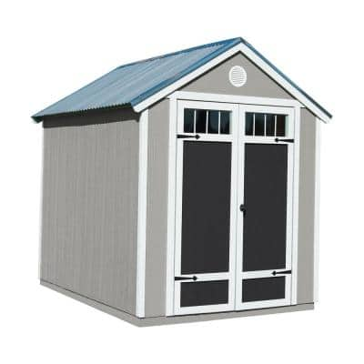 Garden Shed 6 ft. x 8 ft. Wood Storage Shed with Galvanized Metal Roof