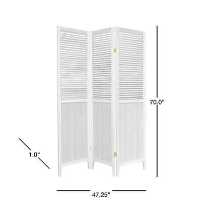6 ft. Tall White Beadboard Room Divider