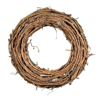 16 in. Dia Natural Grapevine Wreath, Brown (Set of 2)