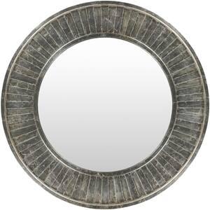 Medium Round Silver Classic Mirror (40 in. H x 40 in. W)