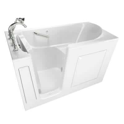 Exclusive Series 60 in. x 30 in. Left Hand Walk-In Soaking Tub with Quick Drain in White
