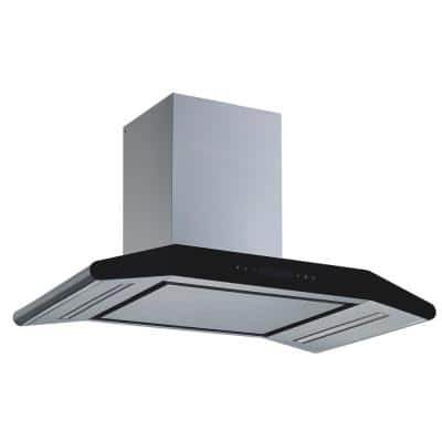 30 in. Convertible Wall Mount Range Hood in Stainless Steel with Silencer Panel, 800 CFM and 5 Speed Touch Control