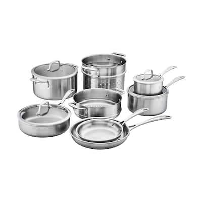 Spirit 12-Piece Stainless Steel Cookware Set