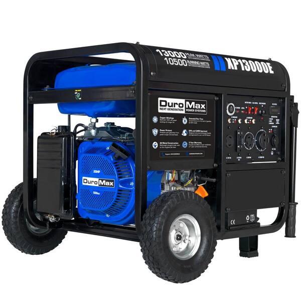 DUROMAX 13000-Watt/10500-Watt Push Button Start Gasoline Powered Portable Generator