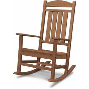 Pineapple Cay 3-Piece All-Weather Teak Plastic Patio Rocking Chair Set