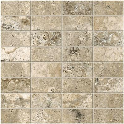Travisano Bernini 12 in. x 12 in. x 8 mm Porcelain Mosaic Floor and Wall Tile (0.969 sq. ft. / piece)