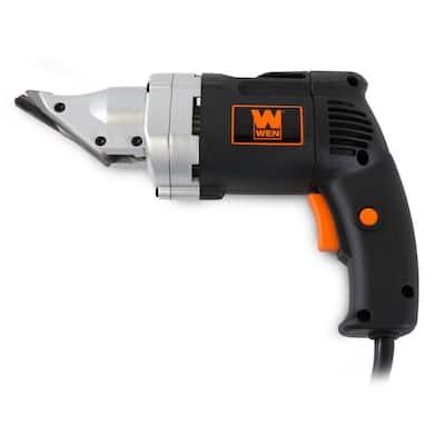 4 Amp 18-Gauge Variable Speed Swivel Head Electric Metal Shear