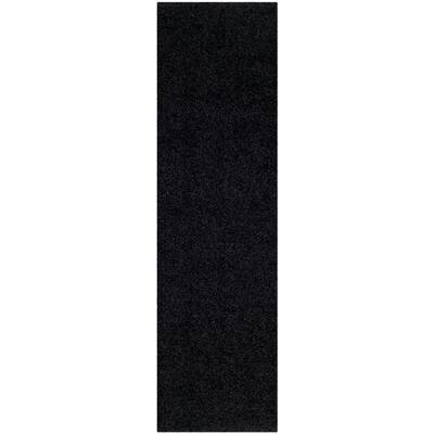 Modera Black 2 ft. x 8 ft. Runner Rug