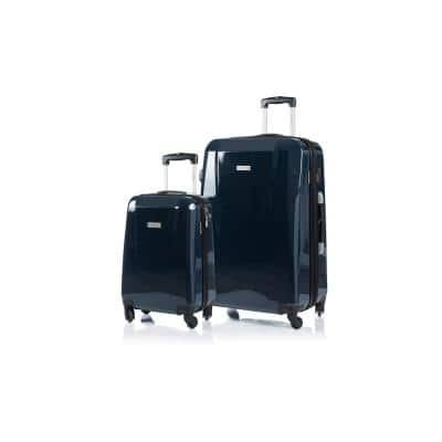 CHAMPS Escape 28 in., 20 in. Navy Hardside Luggage Set with Spinner Wheels (2-Piece)