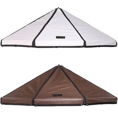 Reversible Brown/White Polyethylene Canopy for 5 ft. Pet Gazebo