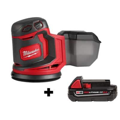 M18 18-Volt Lithium-Ion Cordless 5 in. Random Orbit Sander with 2.0 Ah Compact Battery
