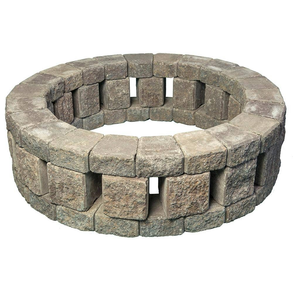 Mutual Materials Stonehenge 58 In X 16 Concrete Fire Pit Kit Northwest Blend Ms58shfpnb1 The Home Depot