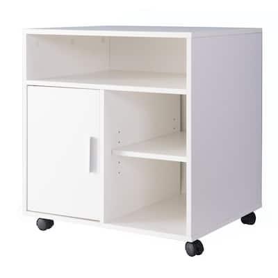 Storage Printer White Kitchen Storage Stand with Casters