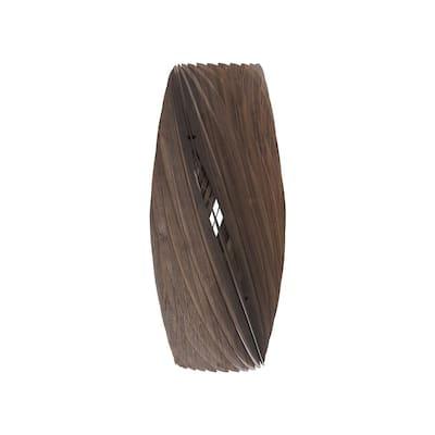 Saffron 19.75 in. Walnut Wood Ceiling Pendant/Table Lamp