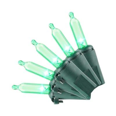 28.8 ft. 100-Light Green Mini LED Light Set