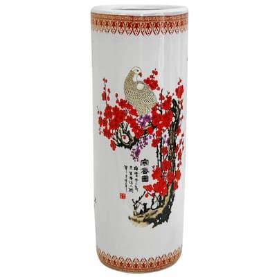 23.5 in. Porcelain Decorative Vase in White