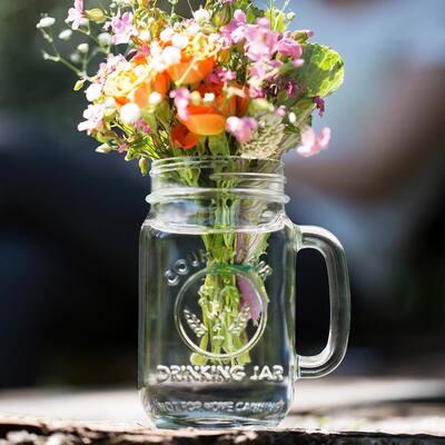 County Fair 12-Piece Clear Glass Drinking Jar Set