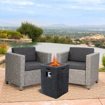 20 in. 40000 BTU Outdoor Propane Gas Fire Pit Square Gas Firepits for Outside