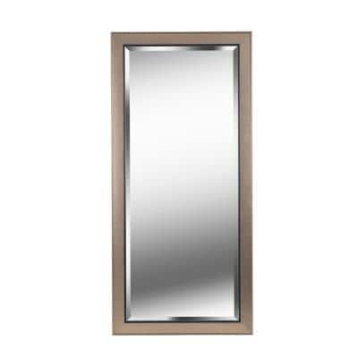 Oversized Rectangle Champagne Beveled Glass Classic Mirror (63.58 in. H x 29.58 in. W)