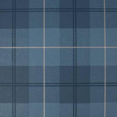 Heritage Tweed Navy Wallpaper Sample