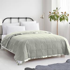 Summer Warmth Green Down Cotton King Blanket